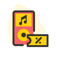 Icon service category for Musik