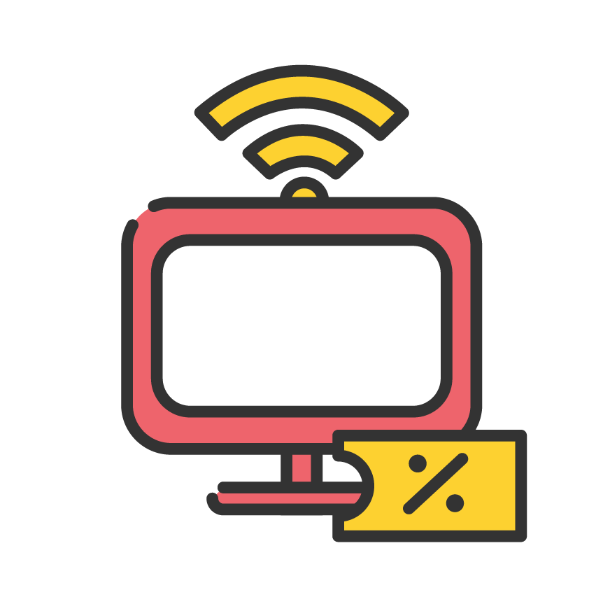 Icon service category for Internet & TV Voucher