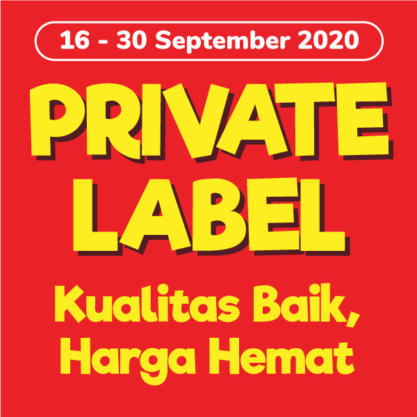 Banner Promo Private Label 16-30 September 2020 Alfamart