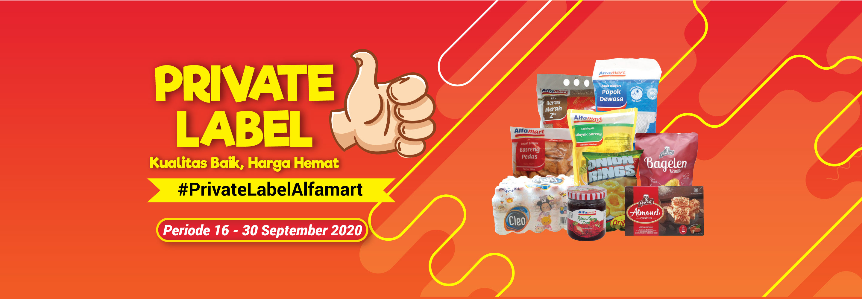 Banner promo Promo Private Label 16-30 September 2020 Alfamart